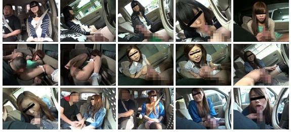 車の中でセンズリ見てもらったら興奮しちゃった素人娘